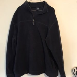 GAP men's fleece jacket 3/4 zip